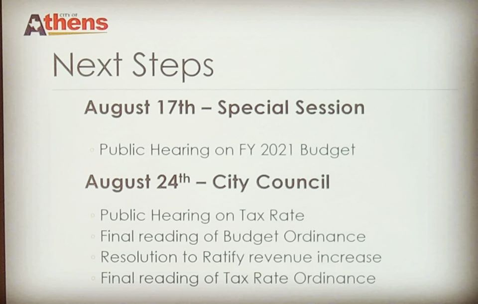 Blog FY 2021 Budget Schedule